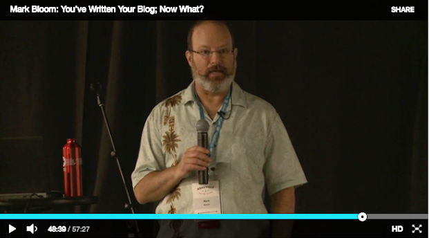 See Mark present You've Written Your Blog; Now What? at WordCamp Asheville in 2016